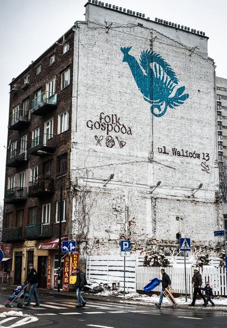 Blog, picture of nice mural taken in central Warsaw