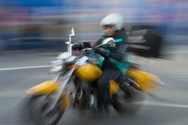Blog - pictures of motorcycle on Oxford Street