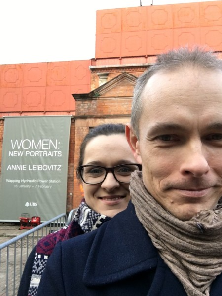 Blog, pictures during Annie Leibovitz's exhibition in London