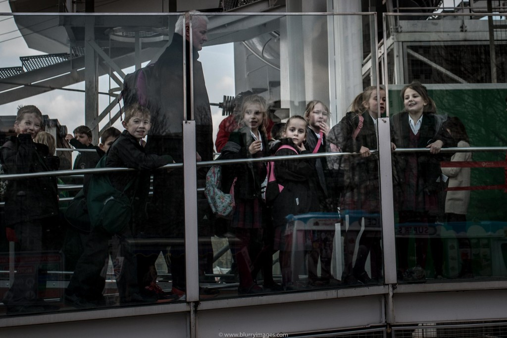 Current affairs. Kids in a queue - London Eye.