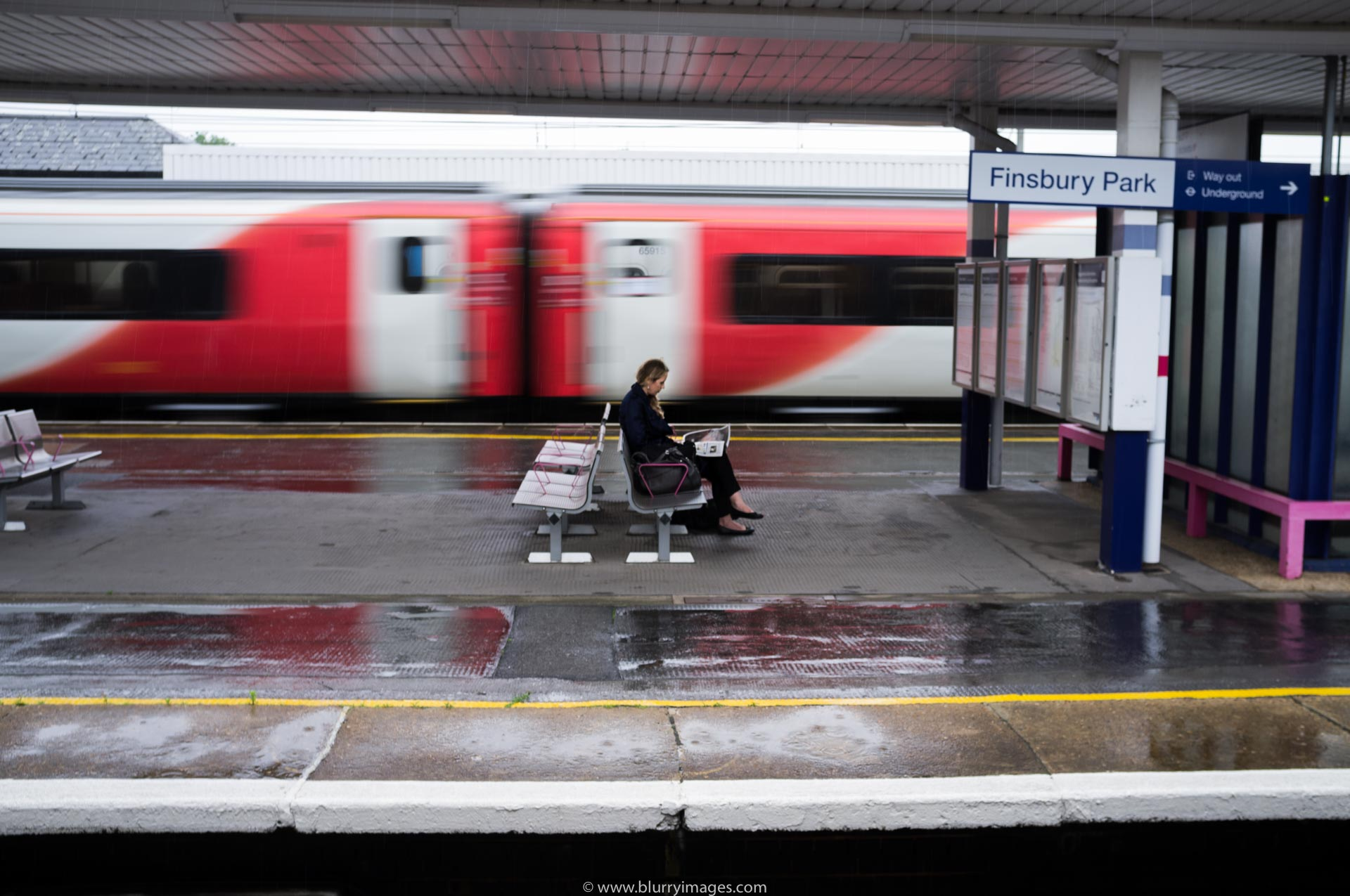 Brexit in UK, woman reading newspaper, train station, train, Brexit 2016 in pictures, Brexit referendum
