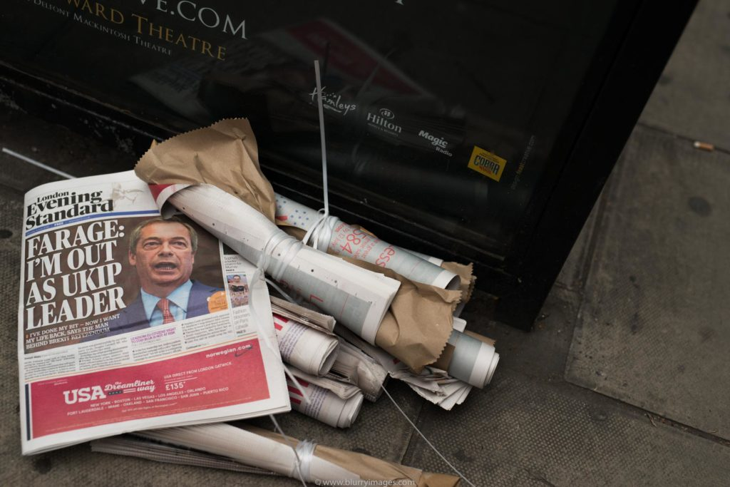 Brexit in pictures, Ningel Farage