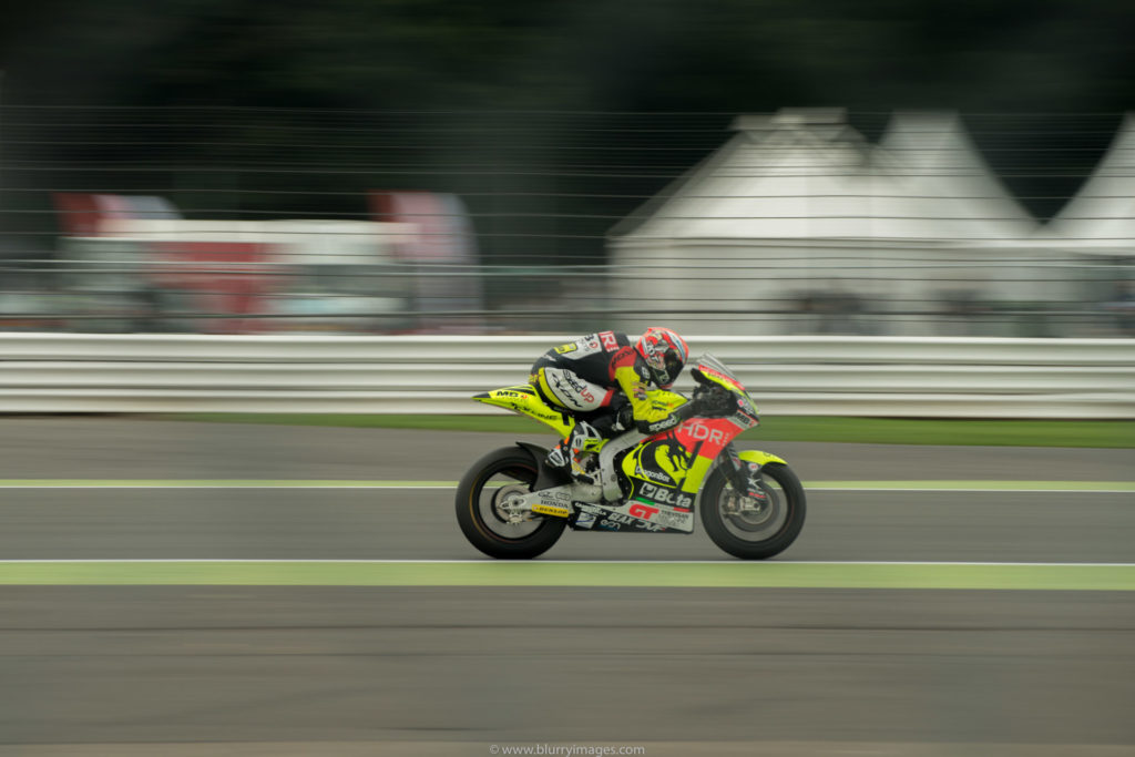 MotoGP Silverstone, driver on straight