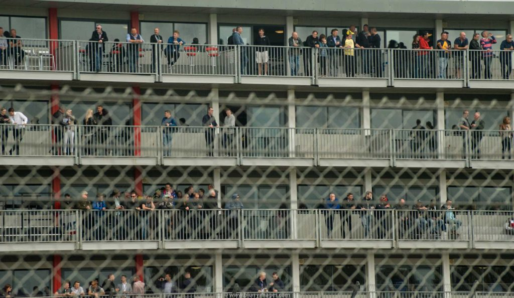 MotoGP Silverstone, spectators on baclony