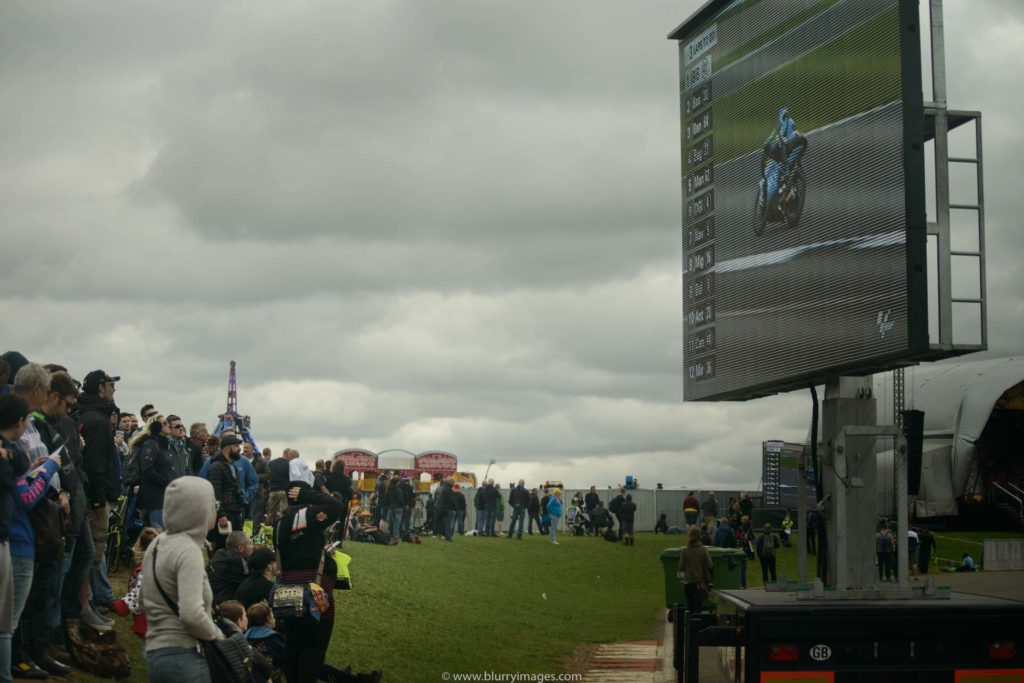 MotoGP Silverstone, big screen