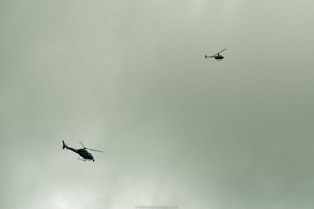 monitoring helicopters, Silverstone Circuit