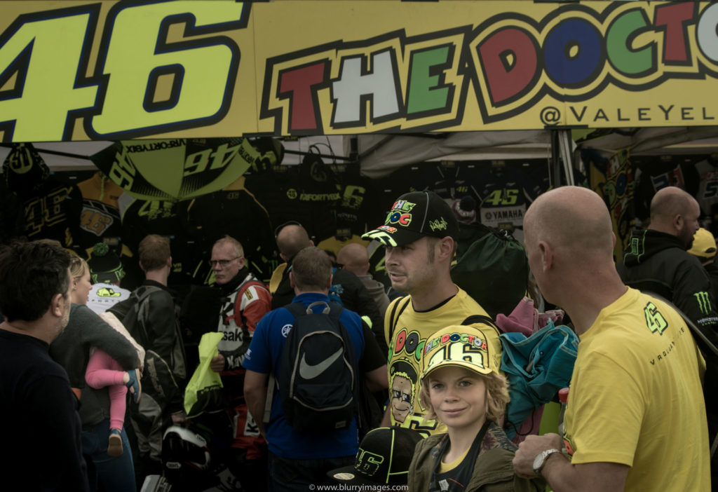 VR46 store, Silverstone racetrack