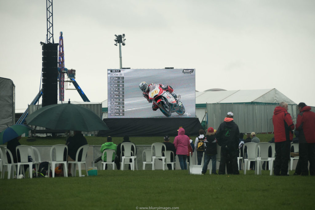 MotoGP Silverstone, watching race, big screen